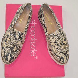 NIB faux reptile platforms size 7 Shoe Dazzle